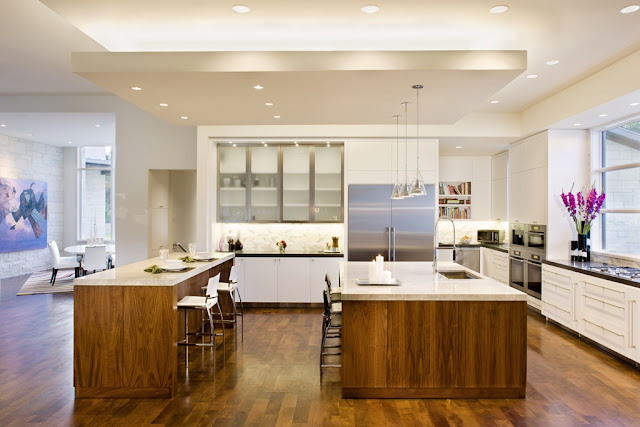 Photo of big open modern kitchen in the Blanco House