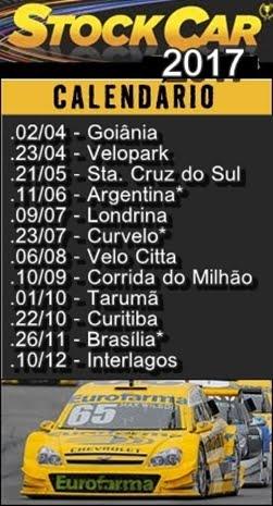STOCK CAR - Calendário