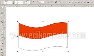 Cara melengkungkan garis di coreldraw