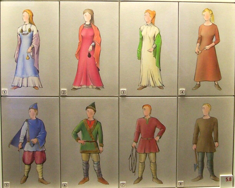 figura 4 e 8 do esquema acima provavelmente representa roupa    Ancient Vikings Clothing