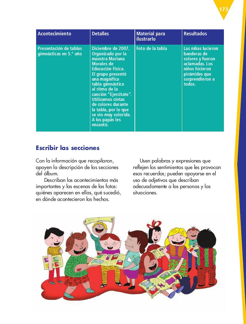 Elaborar un álbum de recuerdos de la primaria - Español 6to Bloque 5to 2014-2015