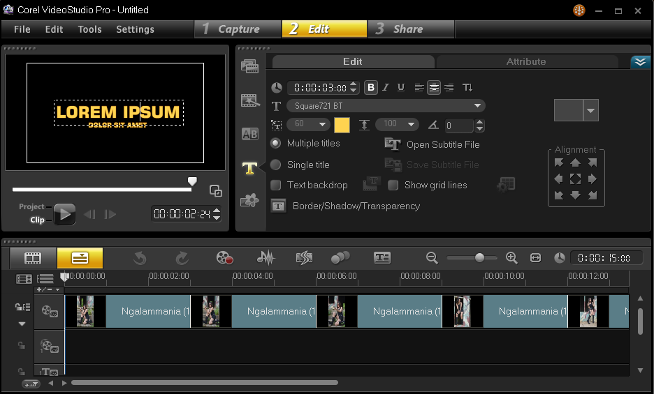 Menambahkan Title Video Pada Corel Video Studio 3