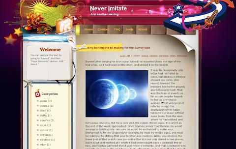 Never Imitate Blogger Theme