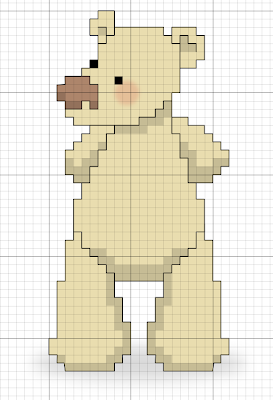 bear free cross stitch pattern
