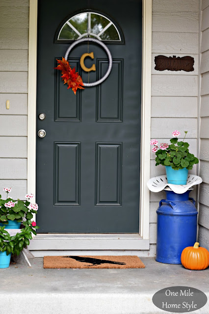 Fall Front Porch - One Mile Home Style Fall Home Tour