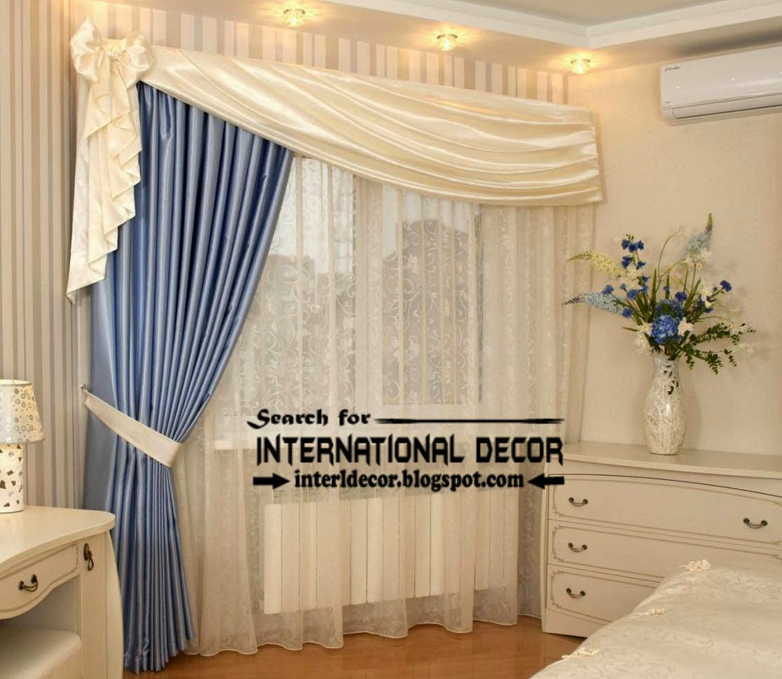 Unique Orange curtain designs for bedroom windows | Curtain Designs