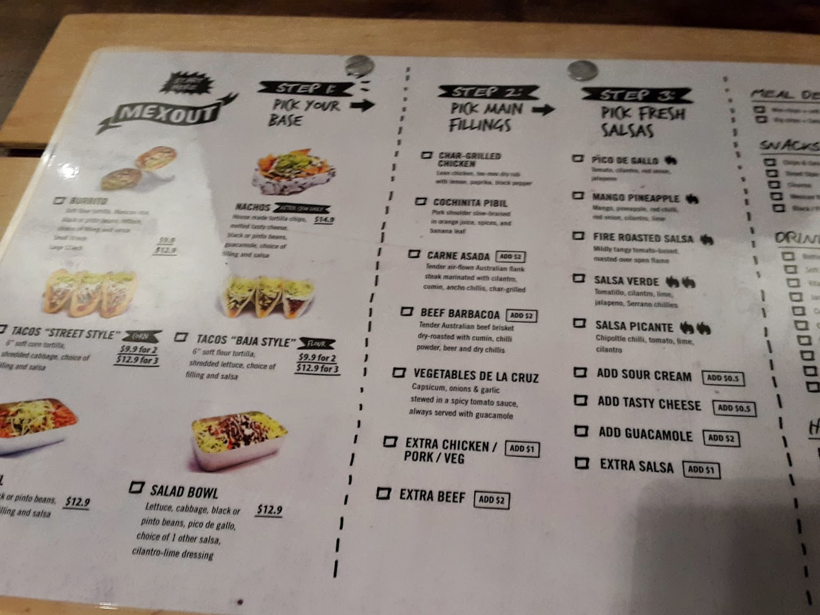 Mexout Far East Square Menu