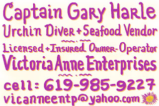 urchin diver, seafood vendor, licensed and insured, Victoria Anne Enterprises