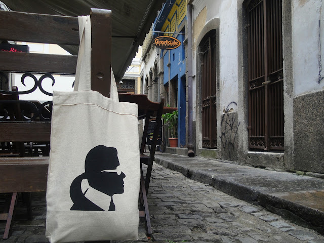 look do dia, vinho, centro do Rio, Arco dos Teles, Karl Lagerfeld, Eco bag