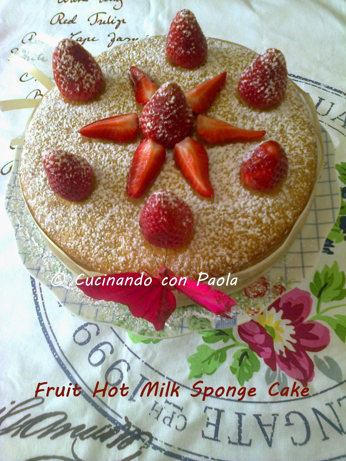 fruit hot milk sponge cake