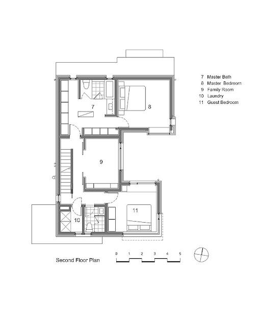 desain denah rumah lantai 2