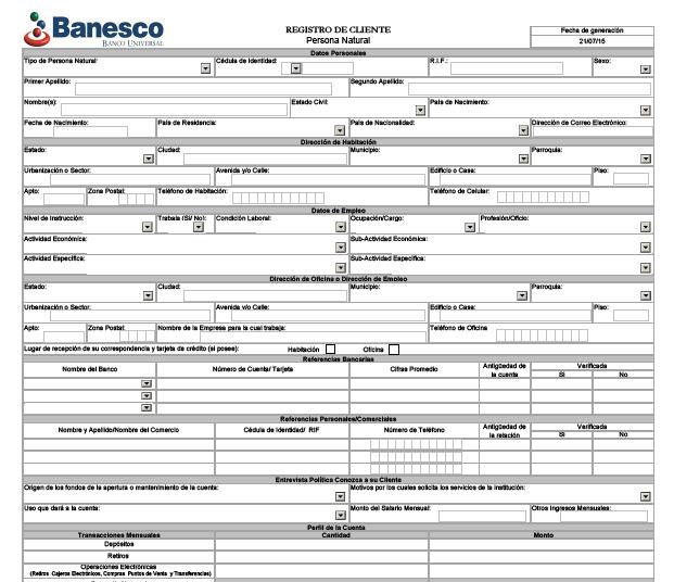 Descargar planilla de solicitud credinomina banco de venezuela for Solicitud de chequera banco venezuela