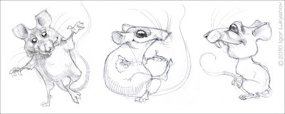 cute cartoon mice characters (drawing of a cartoon mouse)