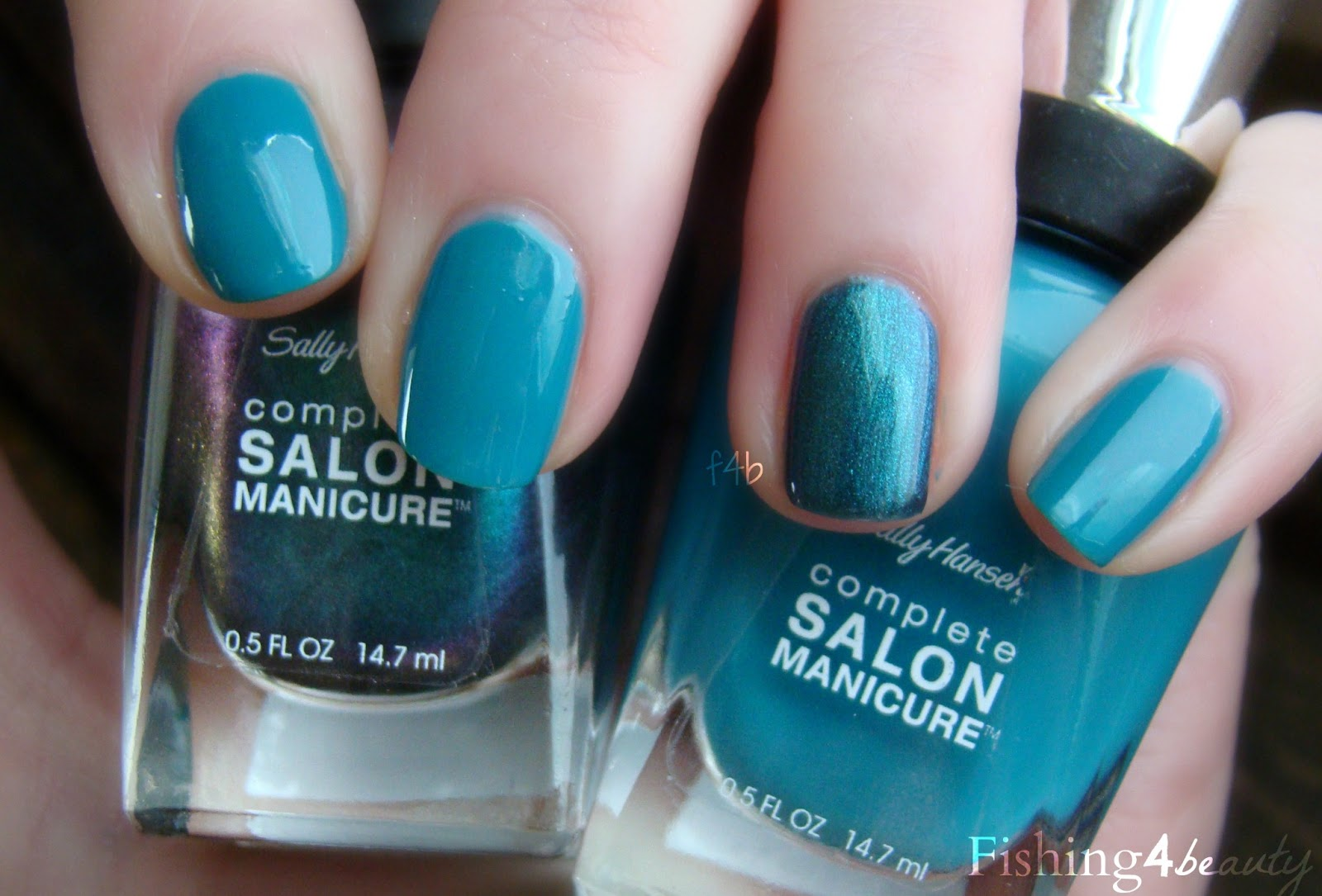 fishing4beauty: black and blue sea manicure?