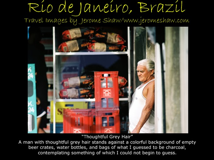 Thoughful Grey Hair - Jardim Rendentor, Rio de Janeiro, Brazil - Copyright Jerome Shaw 2005 / www.JeromeShaw.com