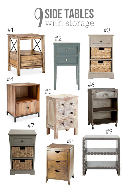 9 Side Tables with storage // use as a night stand // Craftivity Designs