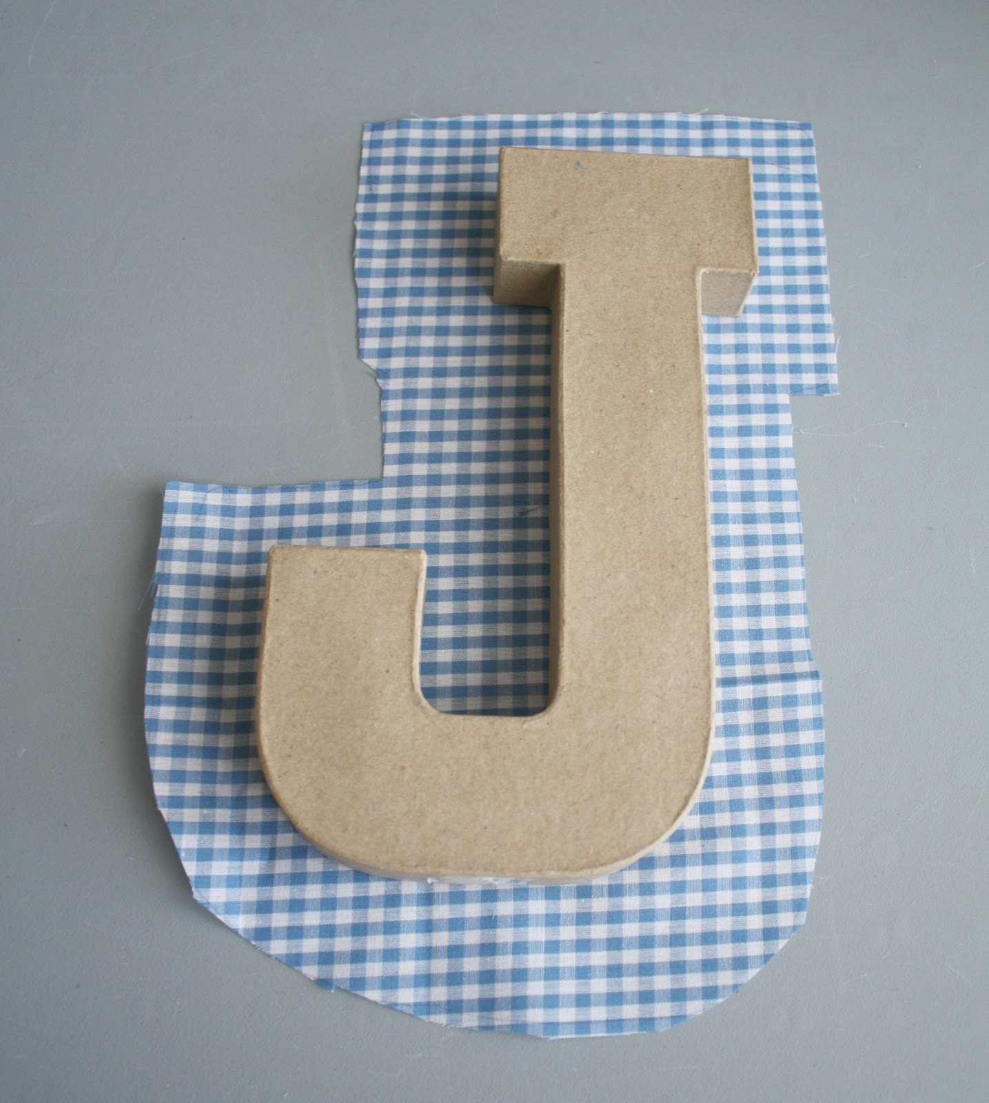 How To Make Padded Fabric Letters