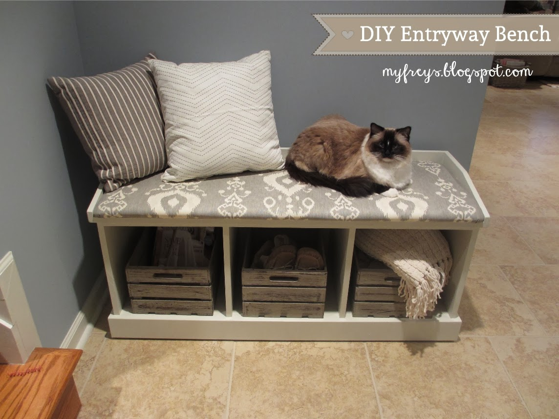 Diy Foyer Bench : Chad and elana frey diy entryway bench