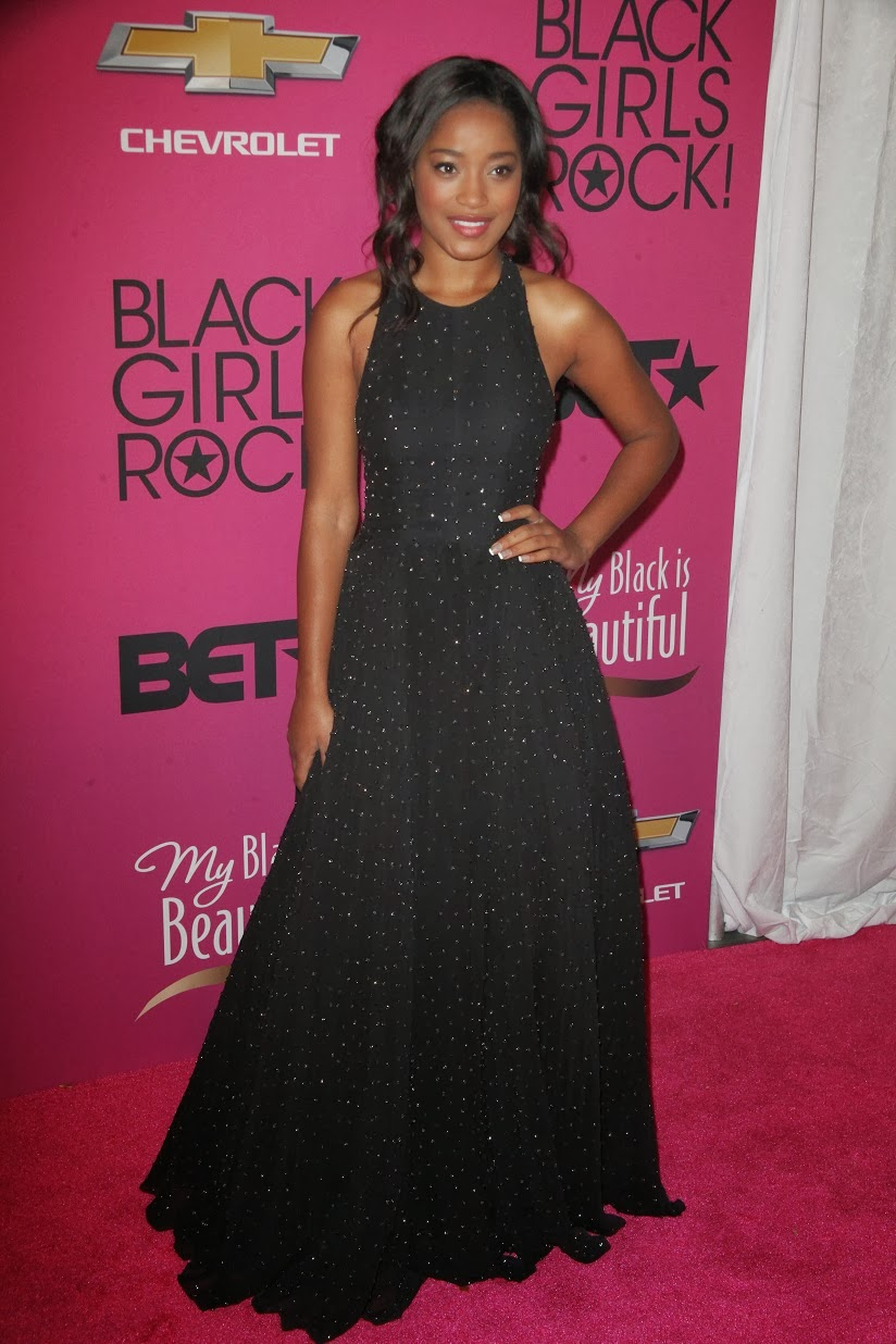 Keke Palmer wears a Novis gown at the 2013 BET Black Girls Rock! Event