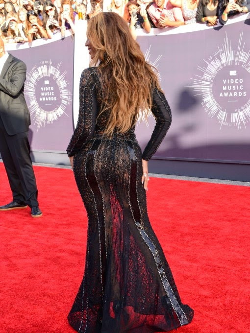 beyonce vma 2014 black evening dress nicolas jebran