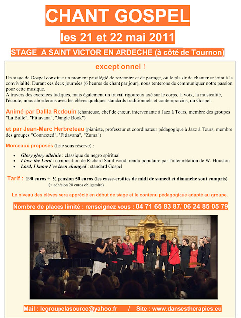 Stage de Gospel en Ardèche avec Fitiavana