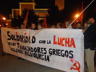 """Solidaridad con la lucha de los trabajadores griegos de la industria del acero """"Helleniki Halivourgia""""  Manigrecia1copia"""