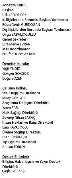 Ufuk Üniversitesi Tıp Öğrencileri Birliği 2016- 2017