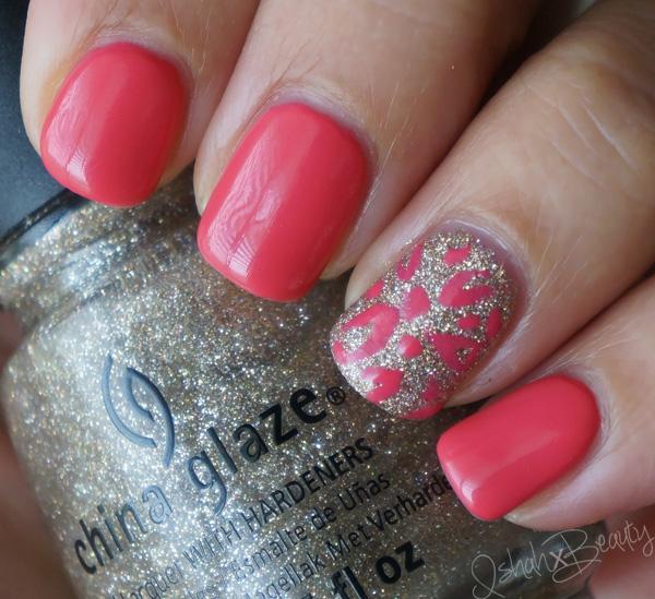 Pink And Gold Glitter Nail Polish Pink Kiss Nail Art Polish