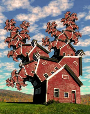 Photo of a surreal house art