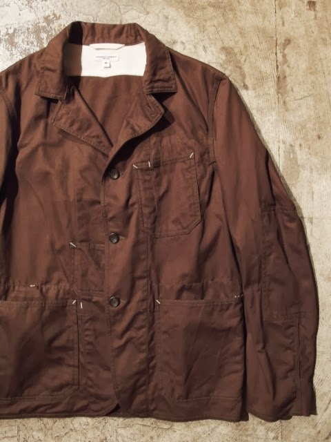 engineered garments usn jacket in olive cavalry twill