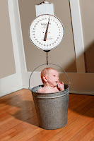 Baby in a scale