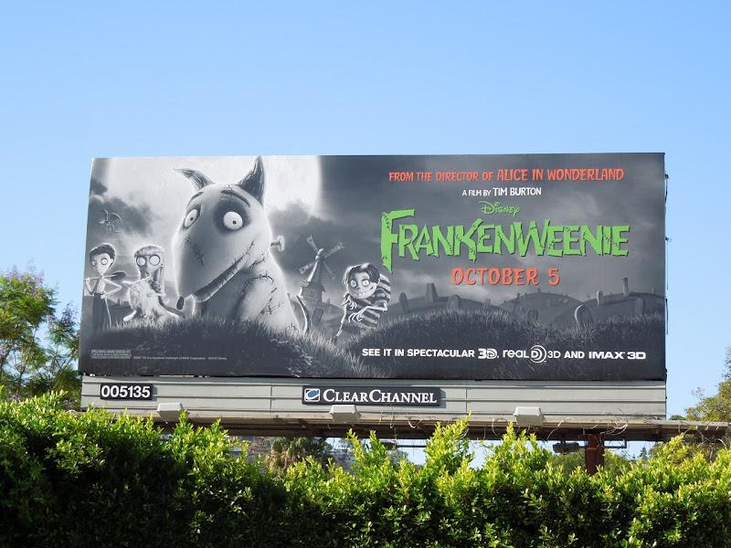 Frankenweenie billboard