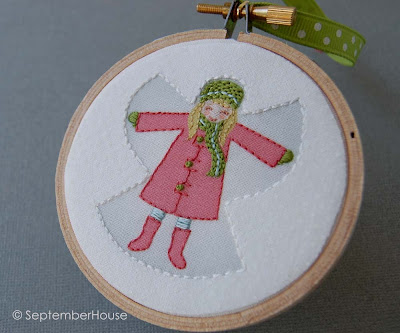 handmade holiday ornament snow angel 2013