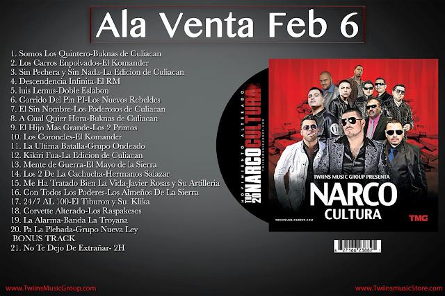 NarcoCultura Top 20 (Disco 2013)