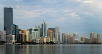 Buidlings stand in the skyline of Miami, Florida. (Credit: Mark Elias—Bloomberg/Getty Images) Click to Enlarge.