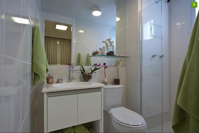 Soluções para apartamentos pequenos  Apê em Decoração -> Decoracao De Banheiro Para Apartamento