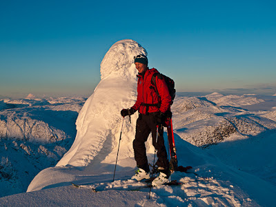Enjoying the wild nature when Alpine Ski Touring in Jostedal, Norway