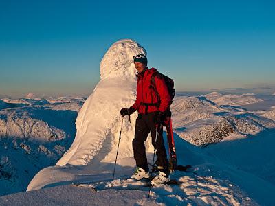Enjoying the wild nature when Alpine Ski Touring in Jostedal, Norway