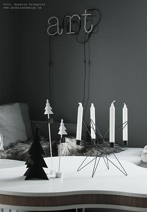 julpynt 2015, jul, julsaker, ljusstake, ljusstakar, svart gran, svarta granar, granar, advent, webbutik, webbutiker, Oohh, unikdesign,
