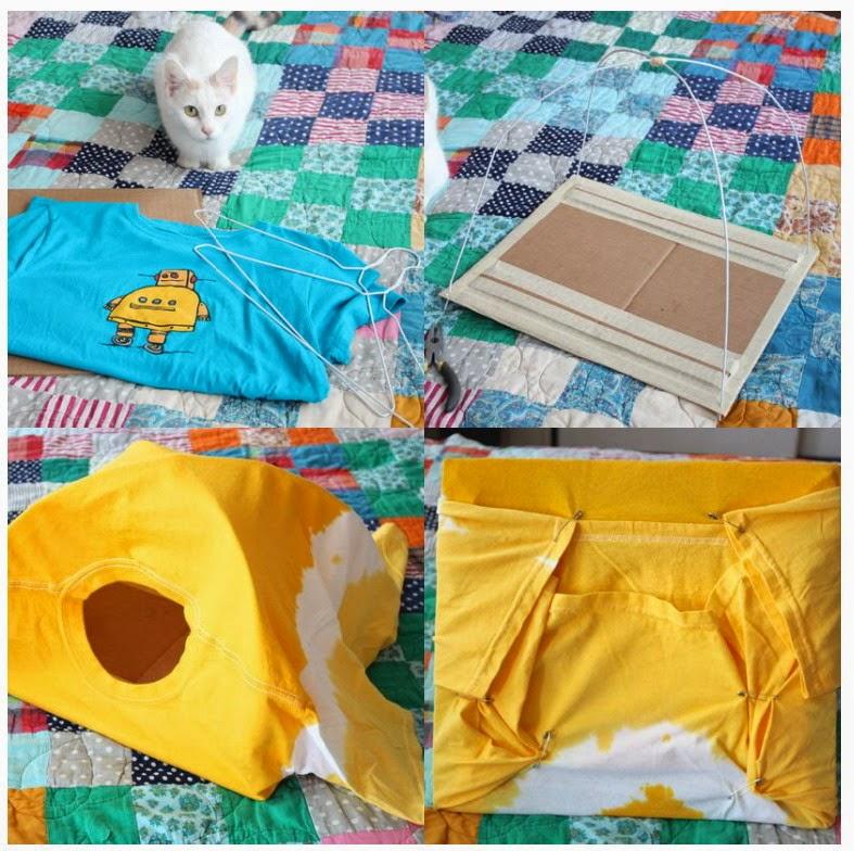 El mundo del reciclaje diy casa para el gato reciclando - Casa para gato ...