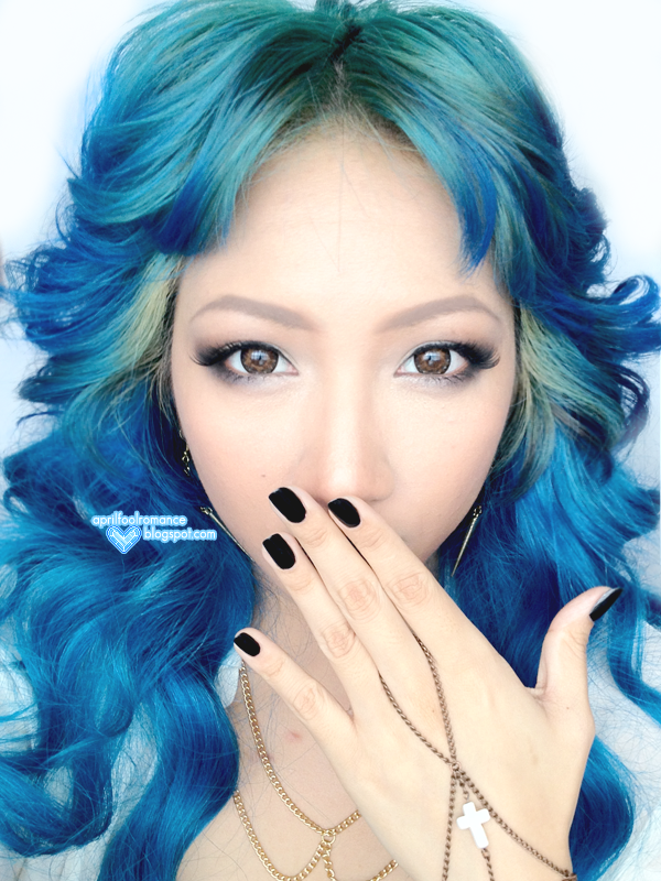 April Fool Romance: Blue Hair Tutorial + ION Color Brilliance Brights ...