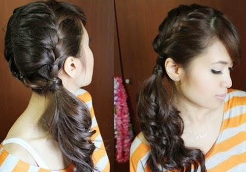 Twisted Ponytail: Best Hairstyle to Go to Work in Busy Morning