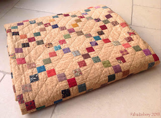 Single Irish Chain Charm Patchwork Quilt