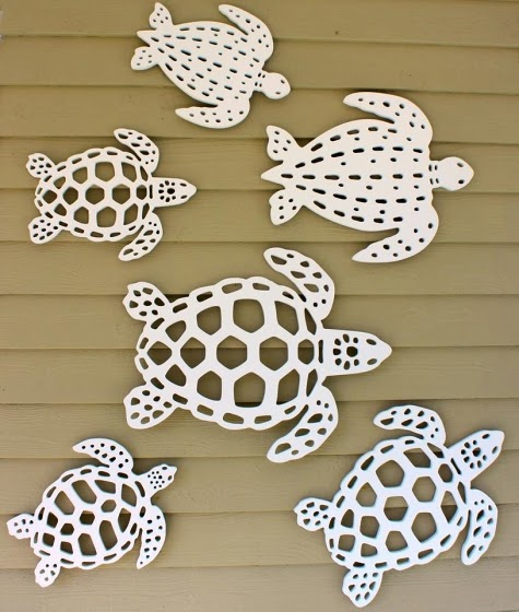 Outdoor sea life mermaid wall decor by island creek for Turtle decorations for home