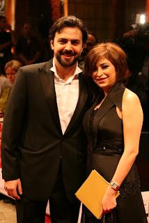صورة الفنانة السورية ديما بياعة مع زوجها الممثل السوري تيم حسن