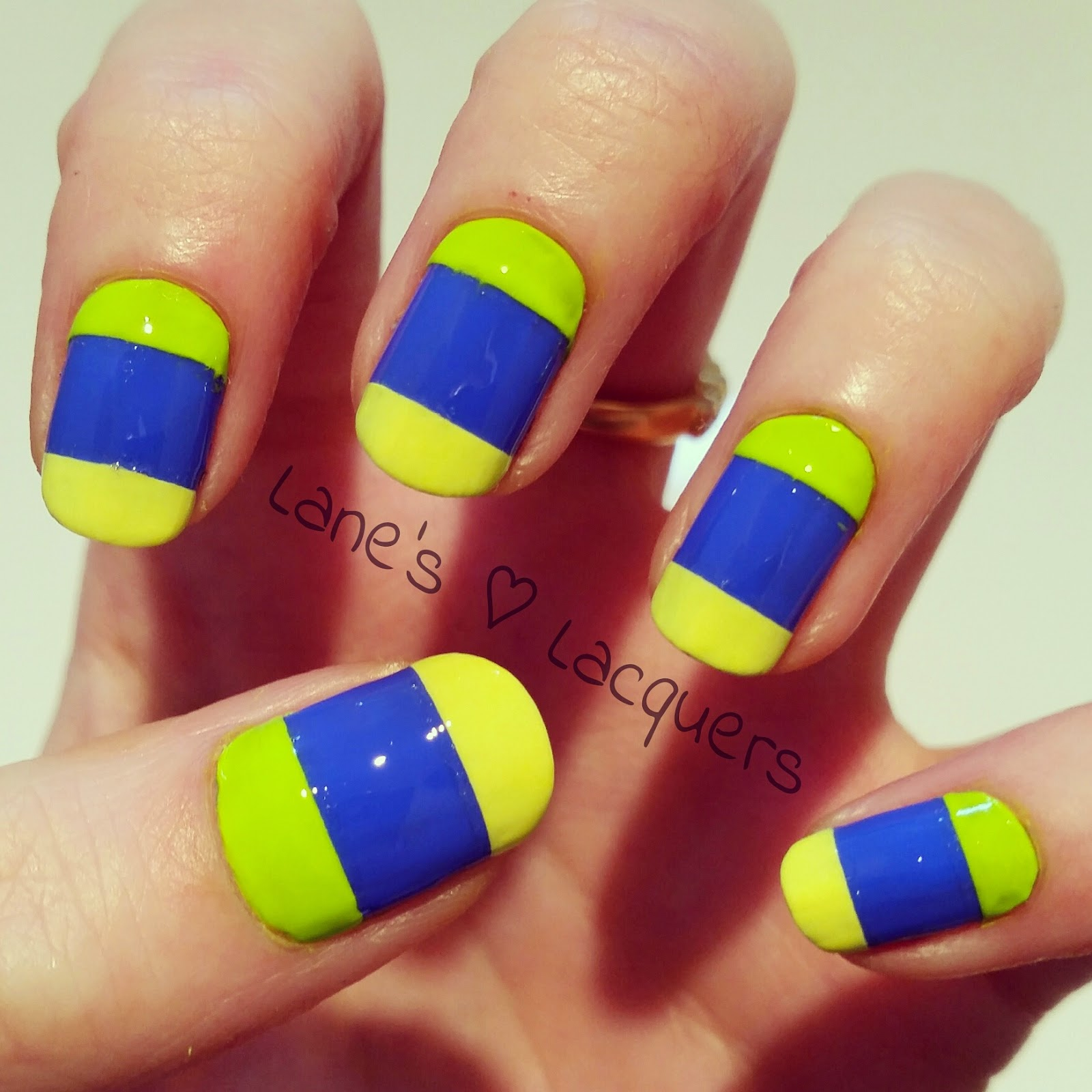 barry-m-blue-models-own-neon-colour-block-nail-art