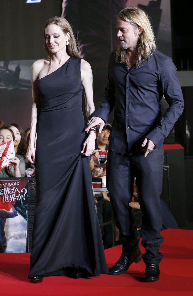 angelina jolie and brad pitt at the world war z premiere