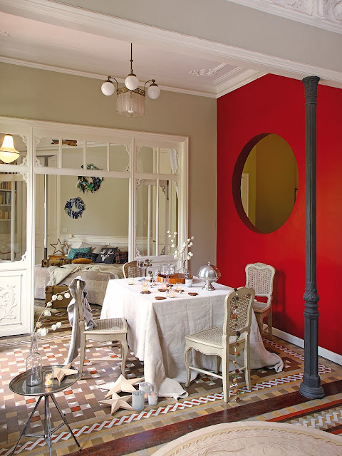 Przepiękny design we wnętrzach jadalni i sypialni