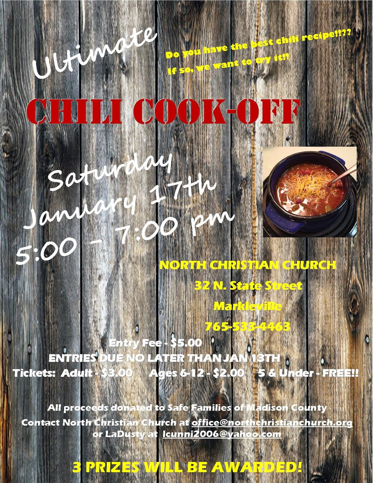 Indiana madison county markleville - Chili Cook Off Sffc Madison County Fundraiser January 17 5 00 7 00 Pm Markleville North Christian Church Adults 3 Kids 2 Ages 5 And Under Free