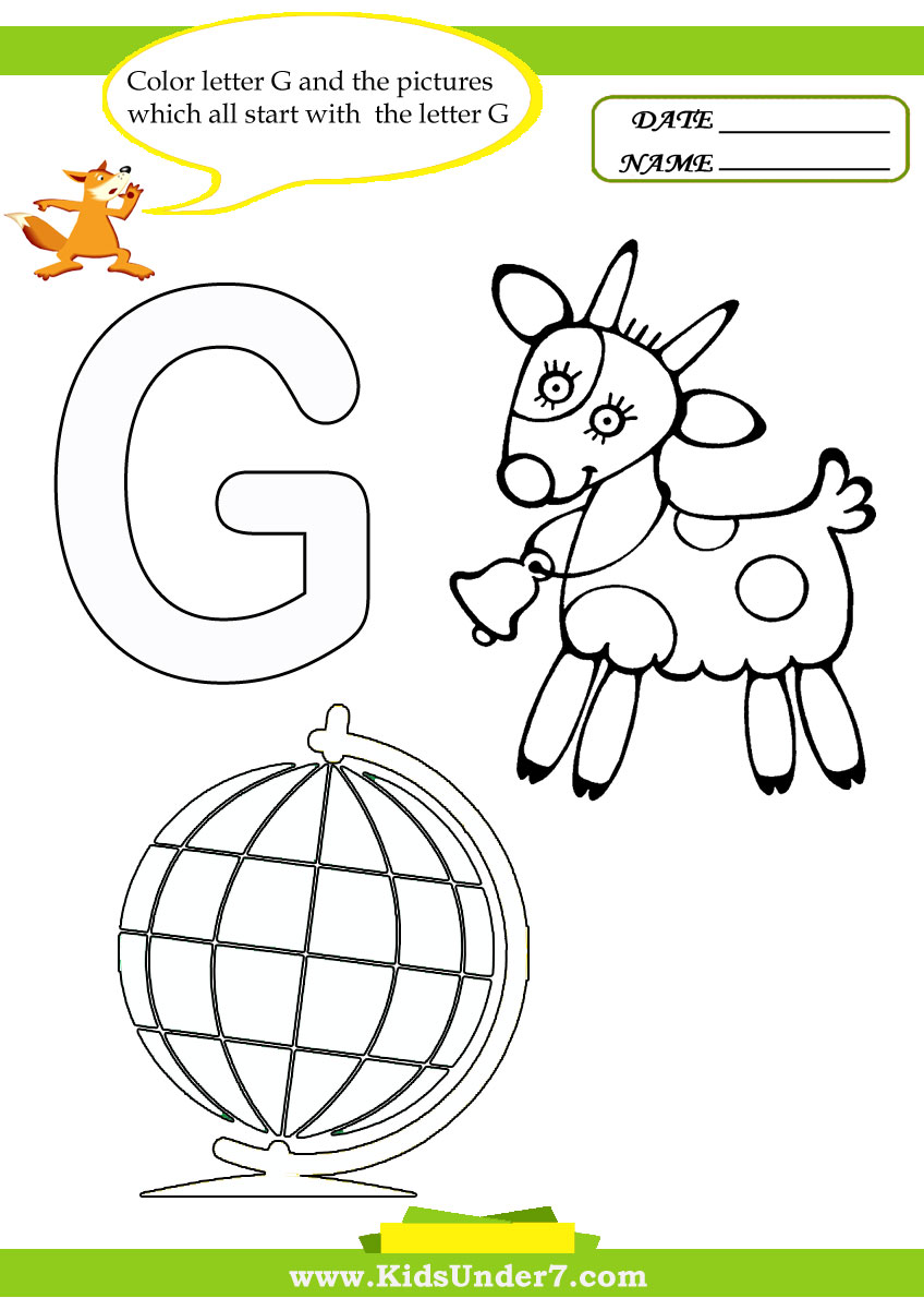 Coloring sheet letter g - Letter G Worksheets And Coloring Pages